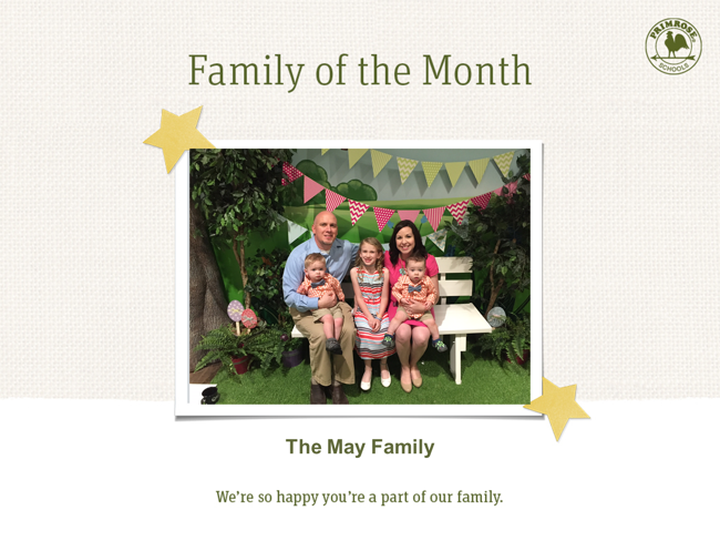 The Mays, family of the month for September