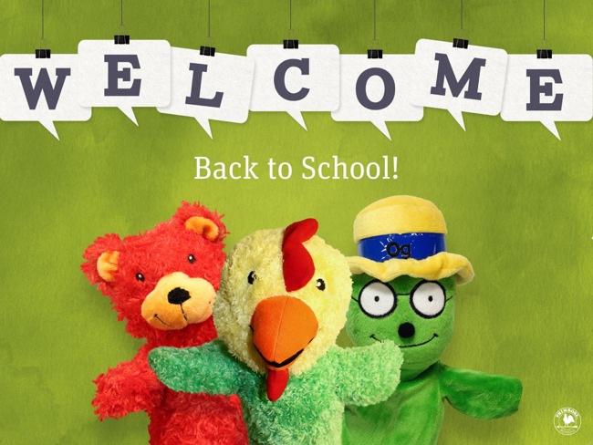 friends animals puppets school welcome