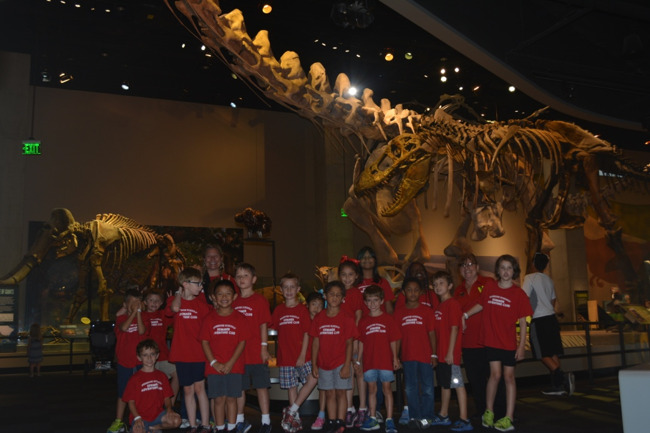 Primrose older explorers class at the Perot Museum of Nature and Science