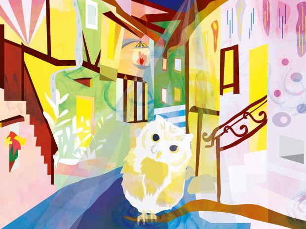 街角のフクロウ