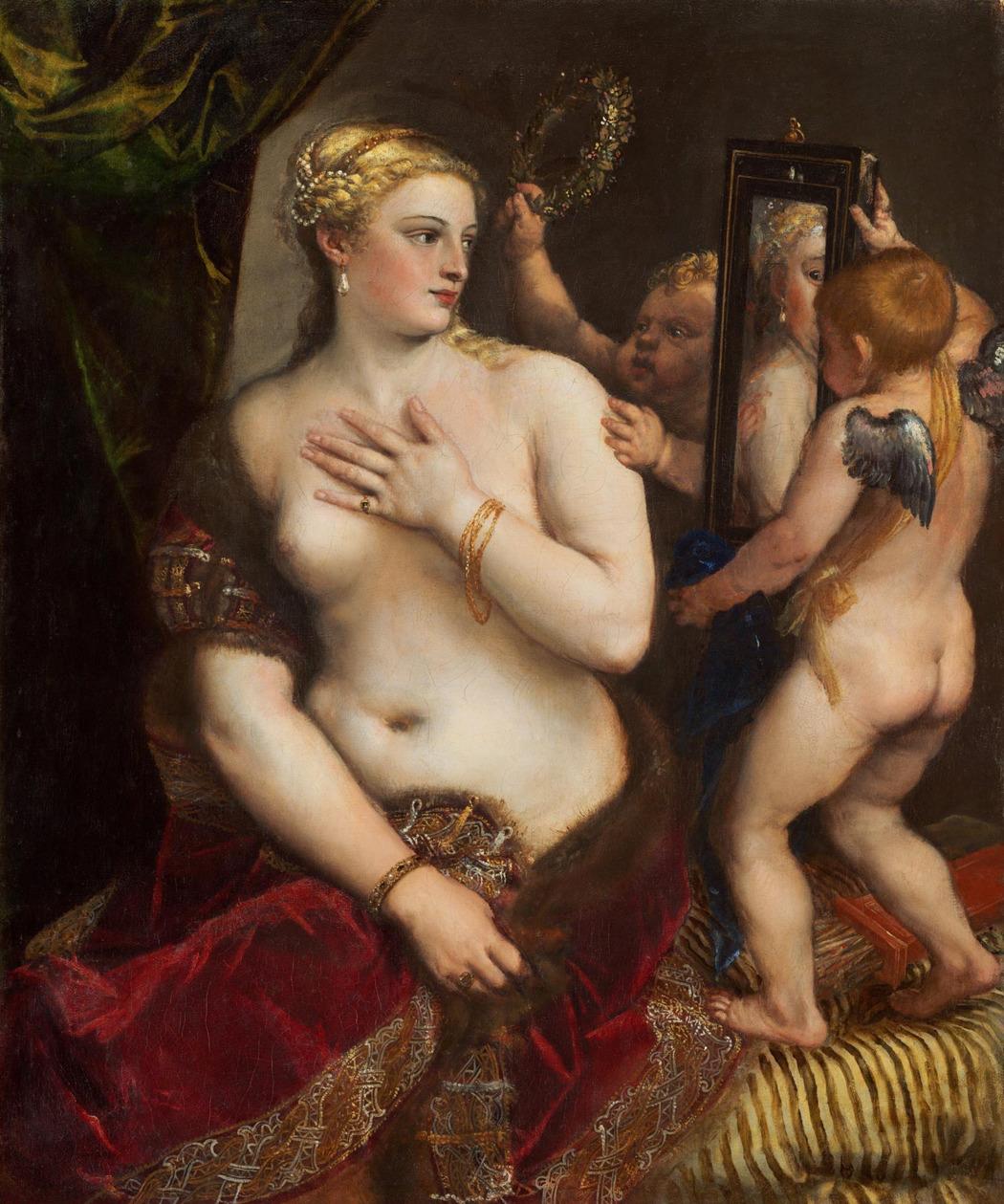 Тициан. «Венера перед зеркалом». Национальная галерея искусства, Вашингтон