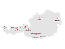 Standorte in Österreich