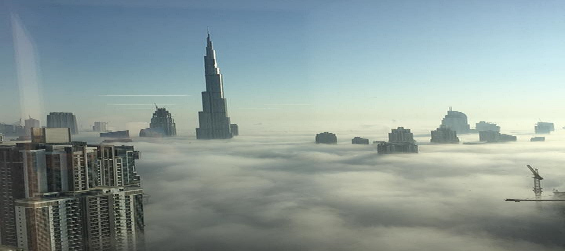 Dubai, United Arab Emirates - October 2015 Fog.