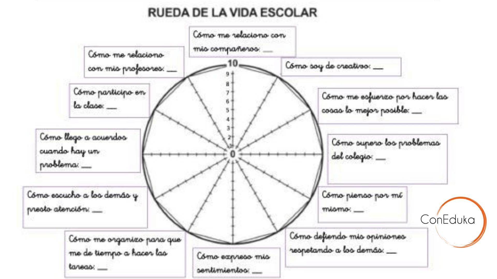 la rueda de la vida educativa