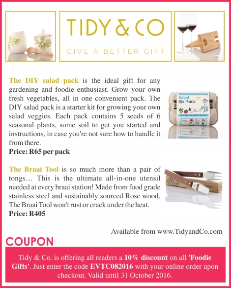 South Africa - Tidy & Co discount coupon