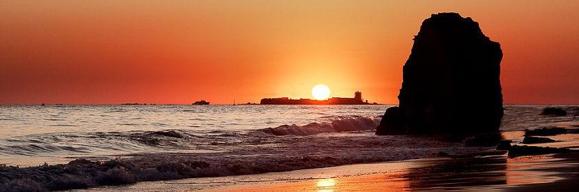 Atardecer playa de la Barrosa Chiclana