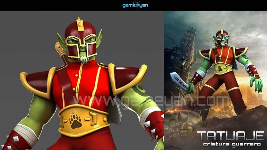 Stylish Man Warrior Creature 3D Character Creator | GameYan