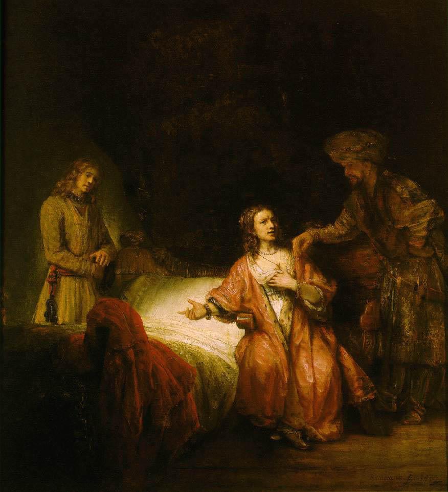 Рембрандт. «Иосиф, обвиняемый женой Потифара» (куплен Меллоном, сегодня атрибутирован как работа мастерской)