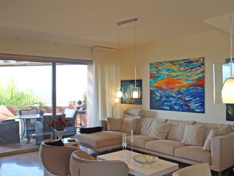 Costa Adeje - Duplex-Penthouse with sea views in Palm Mar - Living