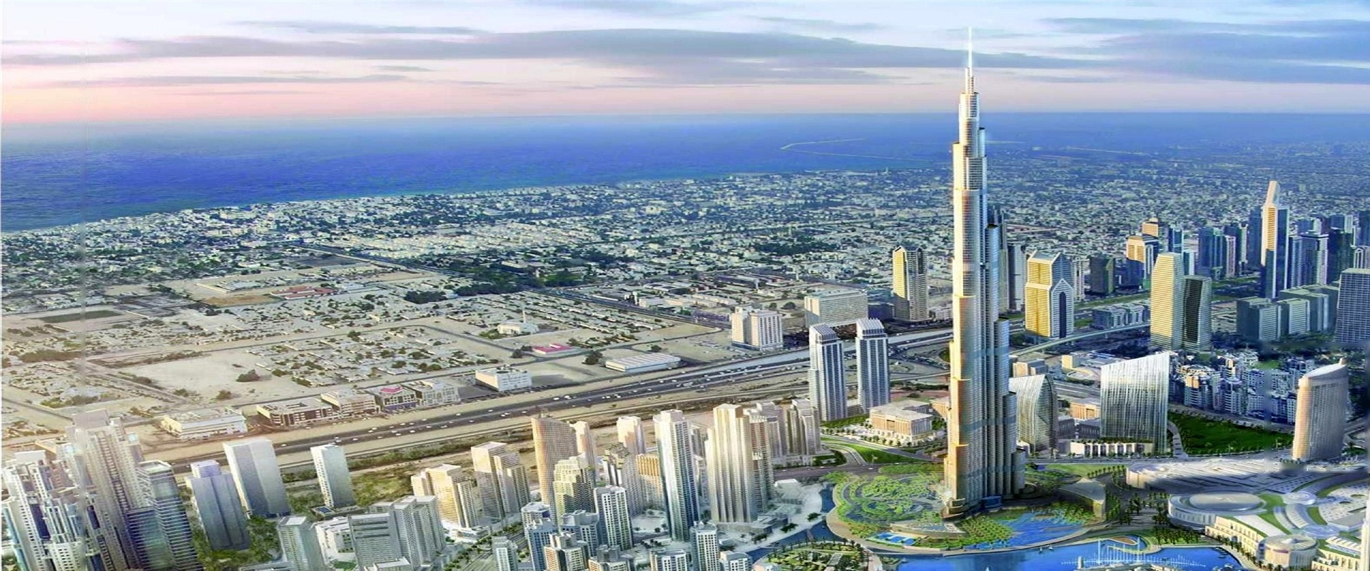Real estate in Dubai, United Arab Emirates - Khalifa to the sea.