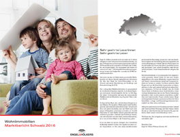 Marktbericht Schweiz 2016