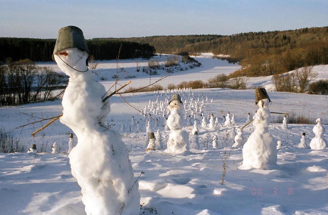 «Снеговики». Николай Полисский, 2006 г.