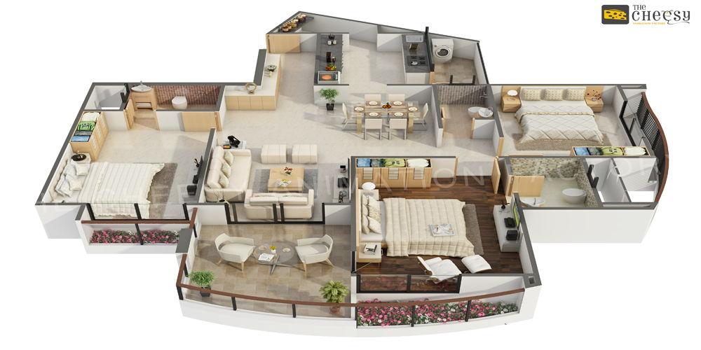 3D Villa Floor Plan Creation Studio