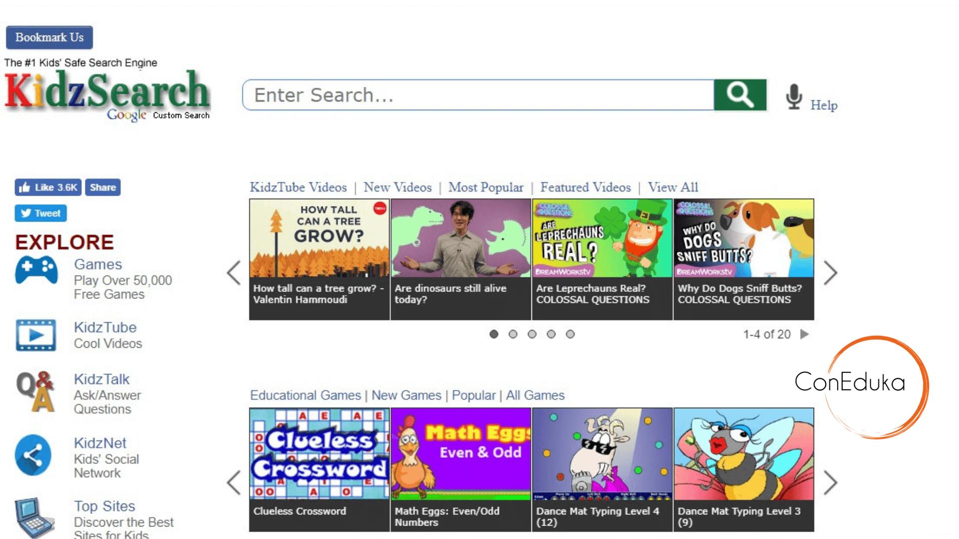 KidzSearch búsqueda segura niños