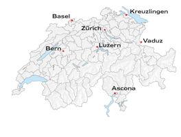 Standorte der Schweiz