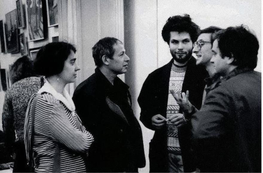 Екатерина Дёготь, Иосиф Бакштейн, Илья Осколков-Ценципер, 1989 г. Фотография: sobaka.ru