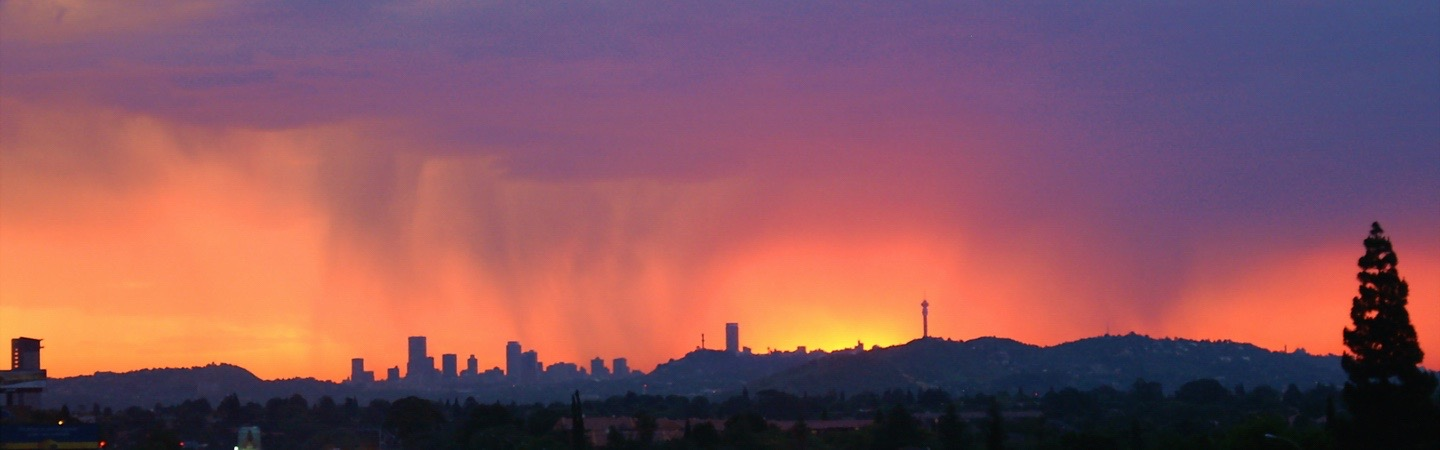 Real estate in Bryanston - Joburg skyline