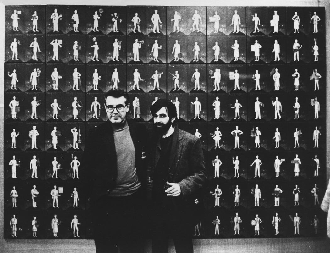 Милош Форман и Гриша Брускин, 1988 г. Фотография: Archival magazine