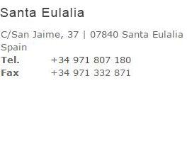 Contacte nuestra tienda en Santa Eulalia