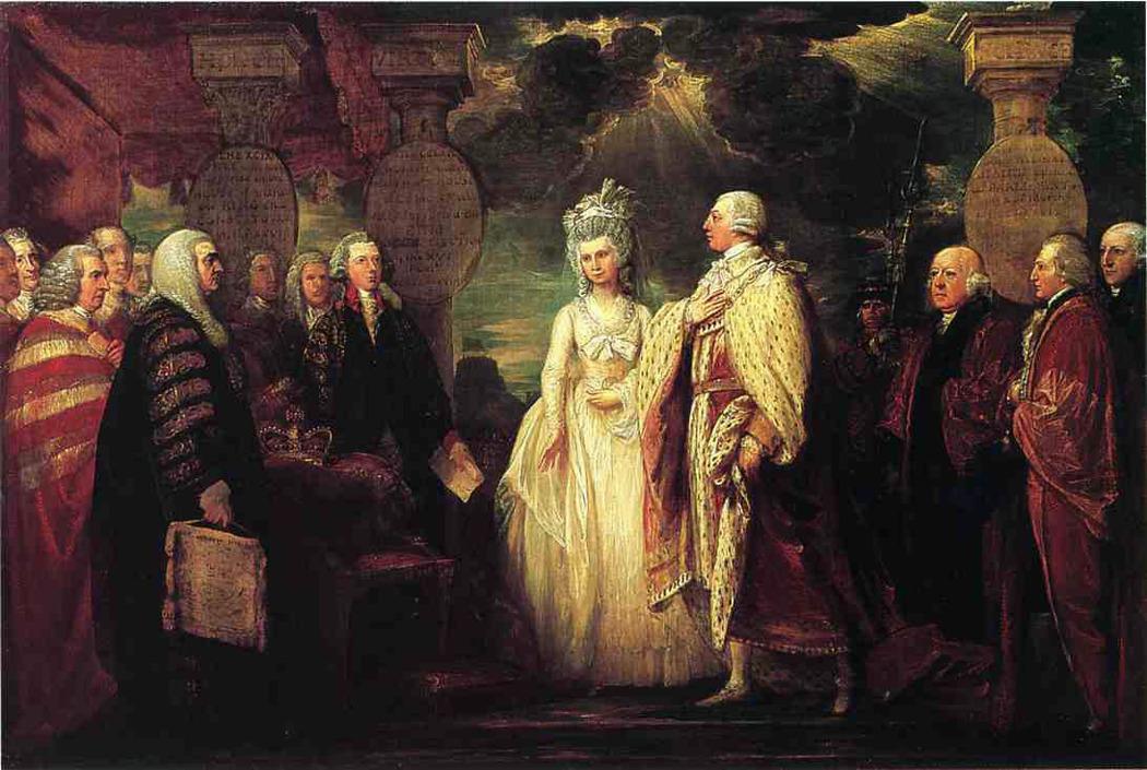 Король Георг Третий распускает парламент. Benjamin West. circa 1789 / www.the-athenaeum.org