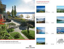 Private Residences Schweiz 2016
