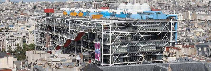 L'Immobilier à Paris - Engel & Voelkers Paris - Centre Pompidou- Vue du ciel - Crédit photo : Jean-Christophe Windland