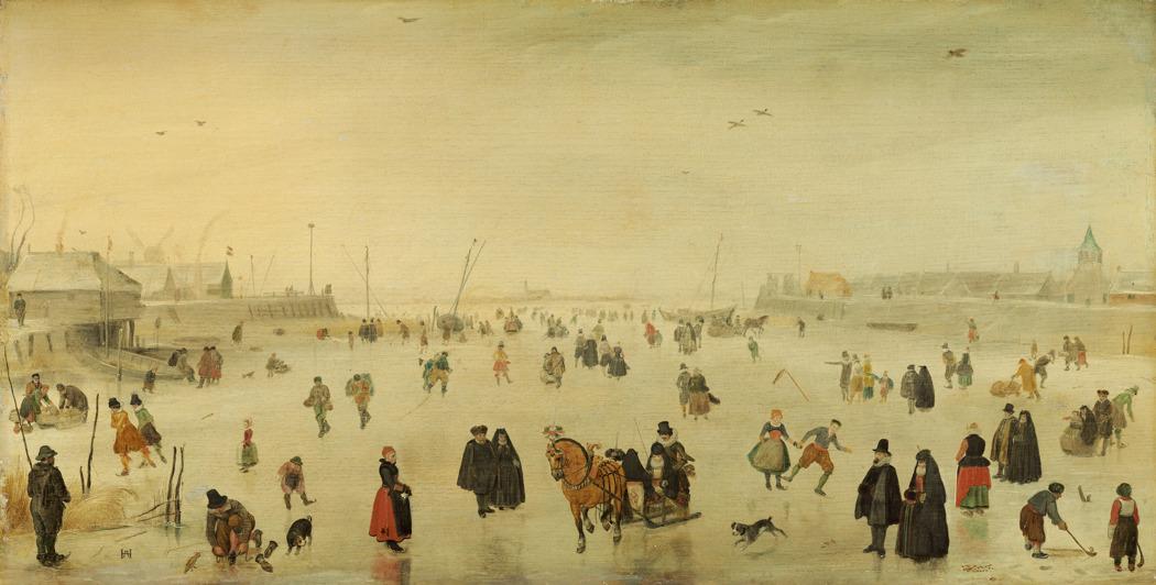 Х. Аверкамп. «Сценка на льду». Продана неизвестному покупателю, с 1967 года — в Национальной галерее искусства в Вашингтоне