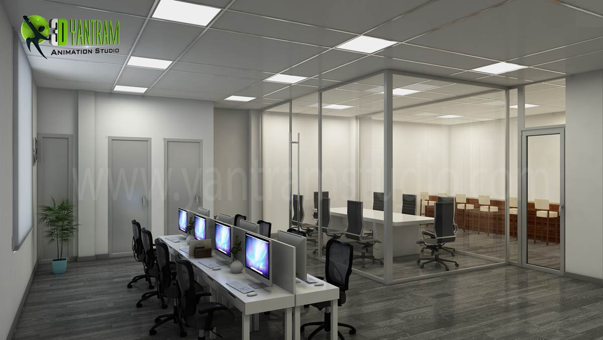 impressive 3d interior design modern office yantramstudio awrd