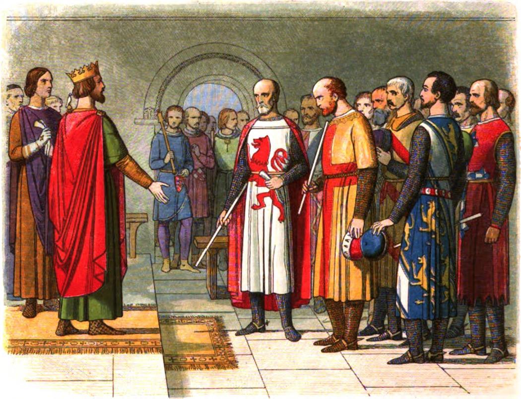 Король Генрих Третий и его парламент. Литография. 1864