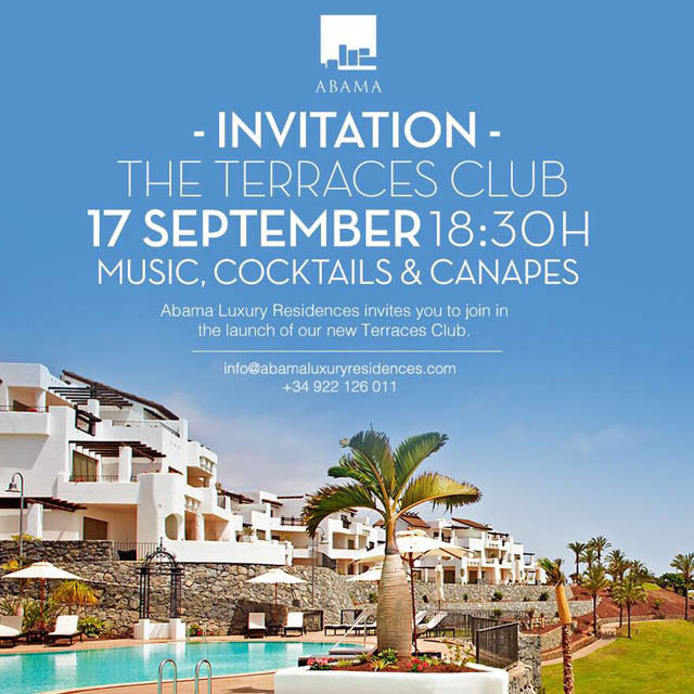 Costa Adeje - Invitation The Terraces Club Event