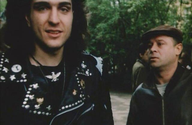 Кадр из фильма «Авария — дочь мента» (реж. Михаил Туманишвили, 1989 г.)