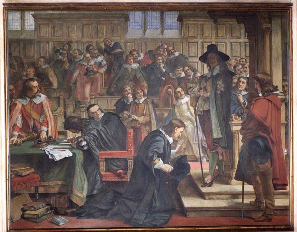 Спикер Ленталл объявляет о привилегиях общин перед Карлом Первым после попытки арестовать пятерых членов парламента. Charles West Cope, 1866 / Palace of Westminster Collection