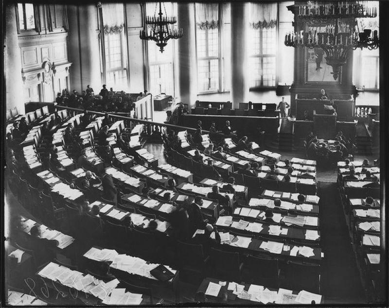 Первое заседание думы в Таврическом дворце / Wikimedia Commons