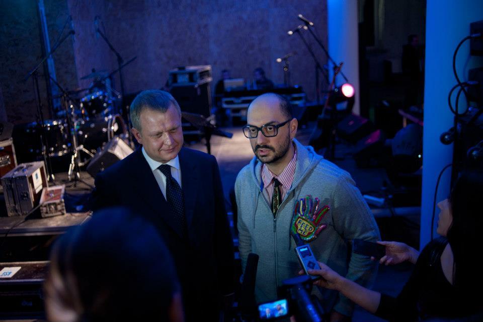 Сергей Капков и Кирилл Серебренников на открытии «Гоголь-центра». Фото: «Гоголь-центр»/Facebook