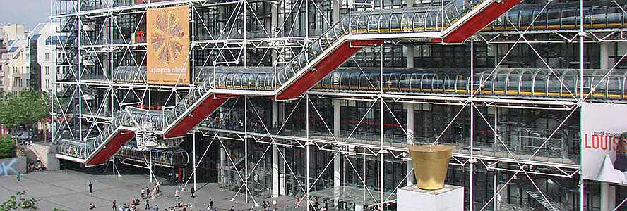 Paris - Engel & Voelkers Paris - Façade Centre Pompidou - Crédit photo : pixabairis