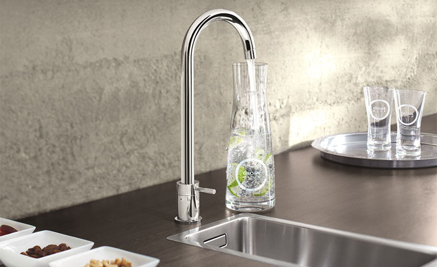 Balearen, Spanien - Grohe Blue, the revolutionary water filter.