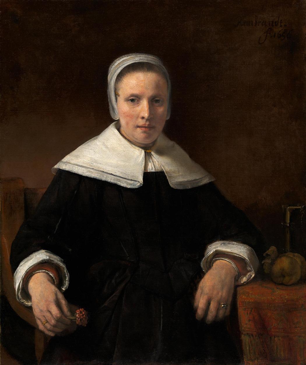 Рембрандт. «Женщина с гвоздикой» (атрибутирована как работа мастерской)